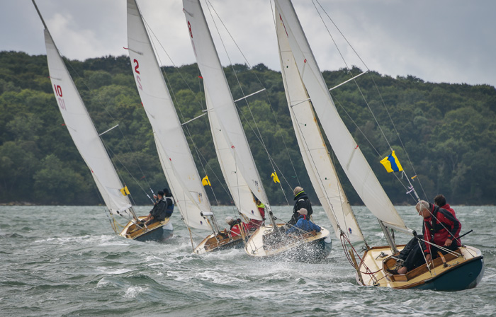 Close racing for the Bembridge One Designs