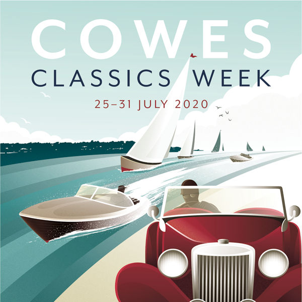 Cowes Classics Poster Tile